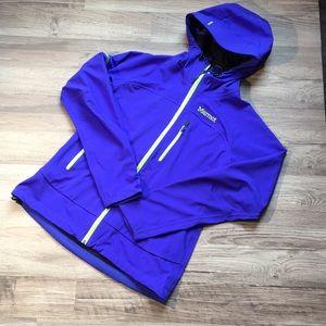 Marmot softshell jacket with hood, indigo, sz M